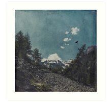 Hike a Mountain Art Print