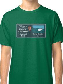 Kenai Fjords National Park Sign, Alaska, USA Classic T-Shirt