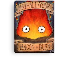 Studio Ghilbi Illustration: CALCIFER #3 Canvas Print