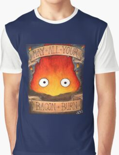 Studio Ghilbi Illustration: CALCIFER #3 Graphic T-Shirt