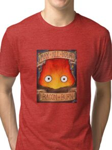 Studio Ghilbi Illustration: CALCIFER #3 Tri-blend T-Shirt
