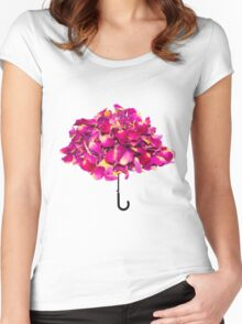 Umbrella made of roses Women's Fitted Scoop T-Shirt