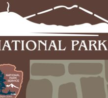 Lassen Volcanic National Park Sign, California, USA Sticker