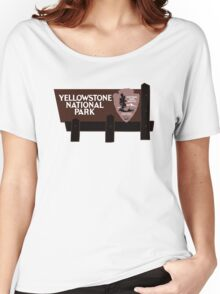 Yellowstone National Park Sign, Wyoming, USA Women's Relaxed Fit T-Shirt