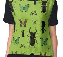 Green bugs Chiffon Top