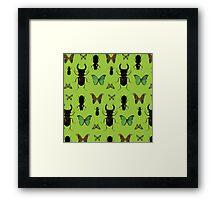 Green bugs Framed Print