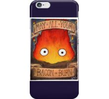 Studio Ghibli Illustration: CALCIFER #2 iPhone Case/Skin