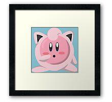 Kirbypuff Framed Print