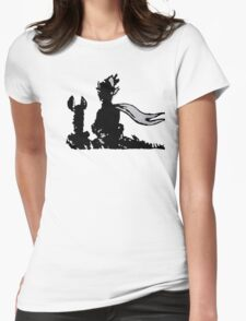 The LITTLE PRINCE and the FOX - stencil grey version Womens Fitted T-Shirt