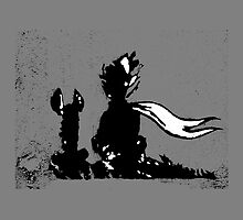 The LITTLE PRINCE and the FOX - stencil grey version by ARTito