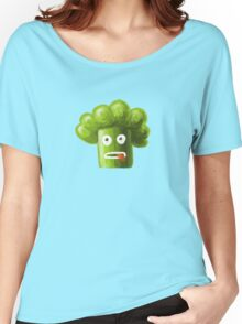 Funny Broccoli Pattern Women's Relaxed Fit T-Shirt