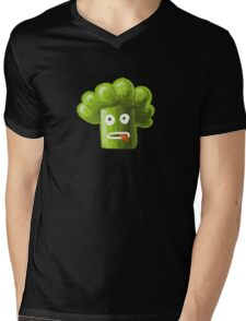 Funny Broccoli Pattern Mens V-Neck T-Shirt