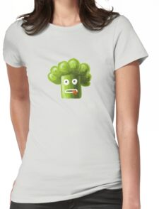 Funny Broccoli Pattern Womens Fitted T-Shirt
