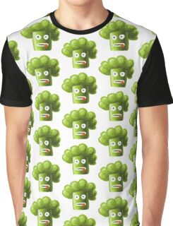 Funny Broccoli Pattern Graphic T-Shirt