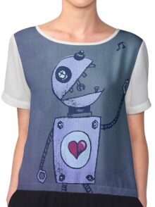 Happy Singing Robot Chiffon Top