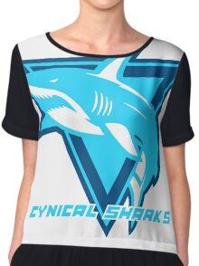 Cynical Sharks Logo Chiffon Top