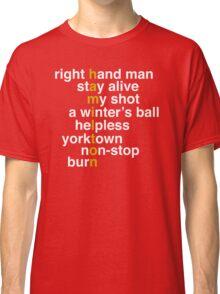 Hamilton - Light Text Classic T-Shirt