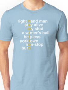 Hamilton - Light Text Unisex T-Shirt