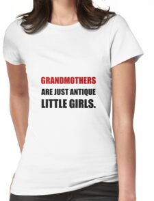 Grandmother Antique Girl Womens Fitted T-Shirt