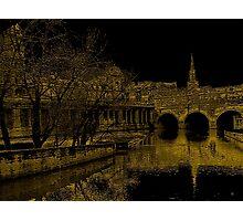 Pulteney Bridge In Bath Photographic Print