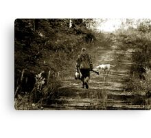 End of morning Duck hunt in Minnesota Canvas Print