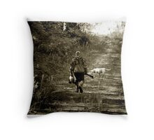 End of morning Duck hunt in Minnesota Throw Pillow