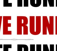 Love Hate Running Sticker