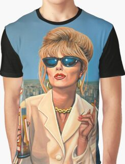 Joanna Lumley as Patsy Stone painting Graphic T-Shirt