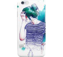BLUE HAIRSTYLE-GAR iPhone Case/Skin