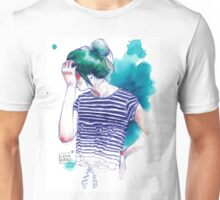 BLUE HAIRSTYLE-GAR Unisex T-Shirt
