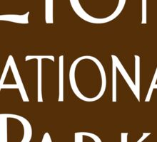 Zion National Park Sign, Utah, USA Sticker