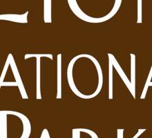 Zion National Park Sign, Utah, USA Sticker