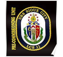 LCS-11  Pre-Commissioning Unit Crest for Dark Colors Poster
