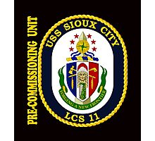 LCS-11  Pre-Commissioning Unit Crest for Dark Colors Photographic Print