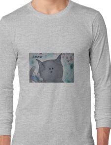 grey cat Long Sleeve T-Shirt