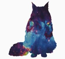 Fluffy cat galaxy One Piece - Short Sleeve