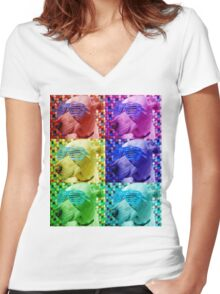 Baxter - The Chill Dog Women's Fitted V-Neck T-Shirt