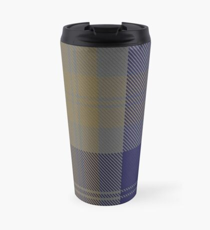 00399 Bannock Brown #2 Tartan  Travel Mug