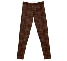 00404 Beanpole Brown Trial Tartan Leggings