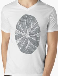 Doodled Aura-Leah DM02 Silver Gray Mens V-Neck T-Shirt