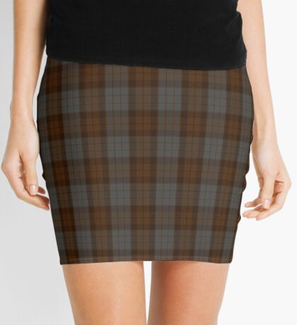 00408 Brown Heather Tartan  Mini Skirt