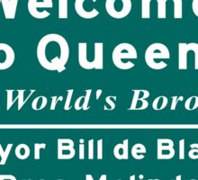 Welcome to Queens 'The World's Borough' Sign, NYC Sticker