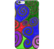 Large Primary Curls iPhone Case/Skin