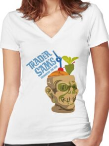 Tiki Bar Women's Fitted V-Neck T-Shirt