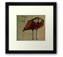 Modern Owl Digital Art Framed Print