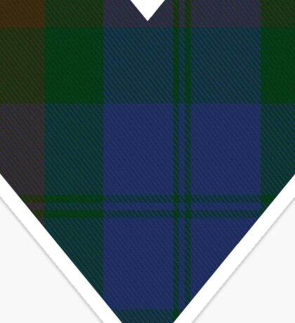 00415 Campbell Brown Clan/Family Tartan  Sticker