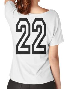 22, TEAM SPORTS, NUMBER 22, TWENTY, TWO, Twenty Second, Competition,  Women's Relaxed Fit T-Shirt