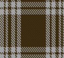 00422 Menzies Brown & White Tartan  Sticker