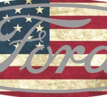 Ford American Flag Sticker