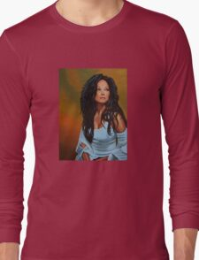 Diana Ross painting Long Sleeve T-Shirt
